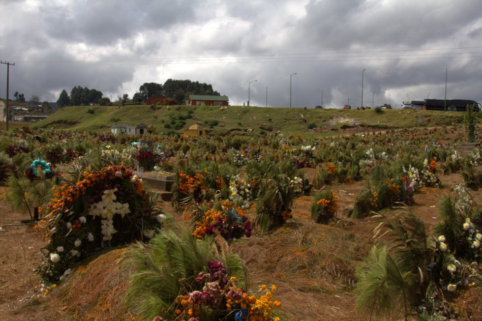 Chamula graveyard