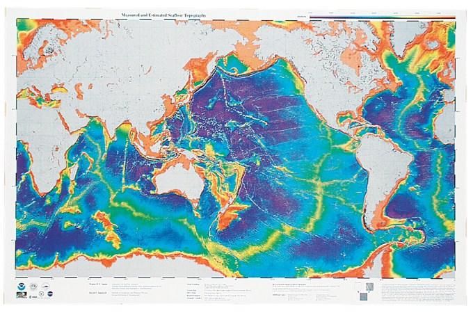 The Ocean Floor topography is