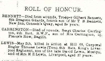 County Herald 21st May 1915