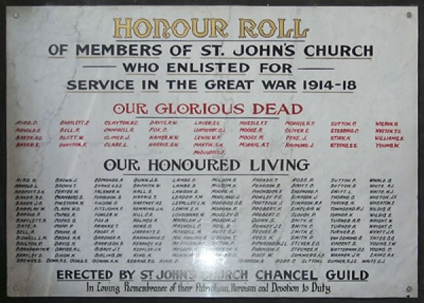 St John Cathedral Memorial