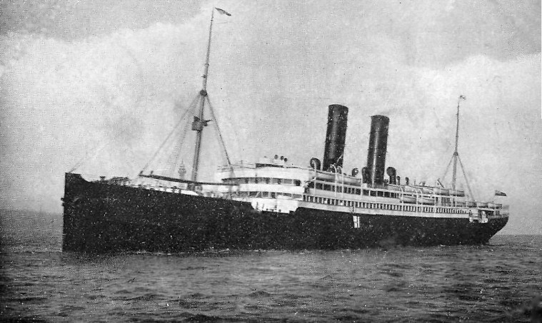 HM Transport ship Caledonia, on which Lieutenant Bate and his regiment sailed to Gallipoli