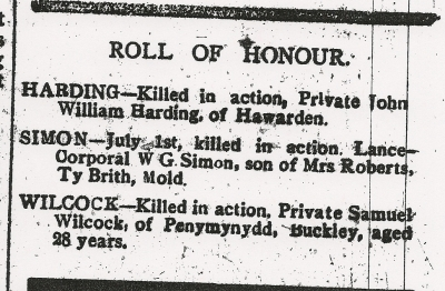 HARDING, John William, County Herald 8th Sept 1916 - 2