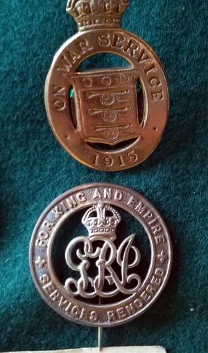 Samuels War Badges.