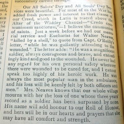 Hawarden Parish Magazine - NEAVES, Walter