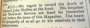 Hawarden Parish Magazine November 1917