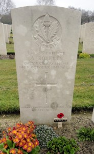 ROBERTS, Arnold Grave Stone 4