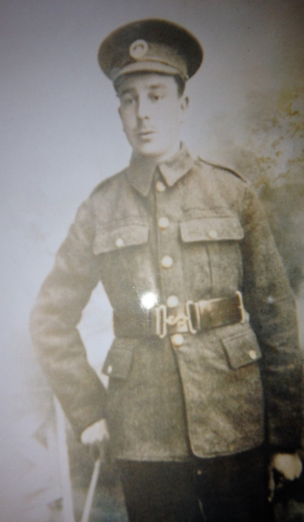 John Bartley in uniform as a soldier of the South Wales Borderers
