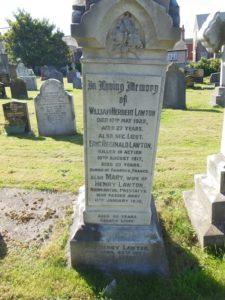 Family grave in Prestatyn churchyard.
