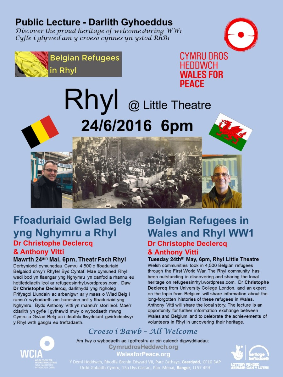 location poster Rhyl Belgian Refugees