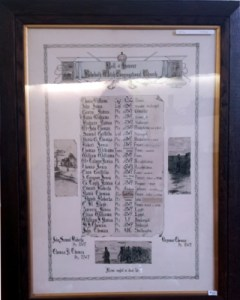 Rehoboth Welsh Congregational Church WW1 Roll of Honour