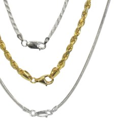 14k Gold and Sterling Silver Chains