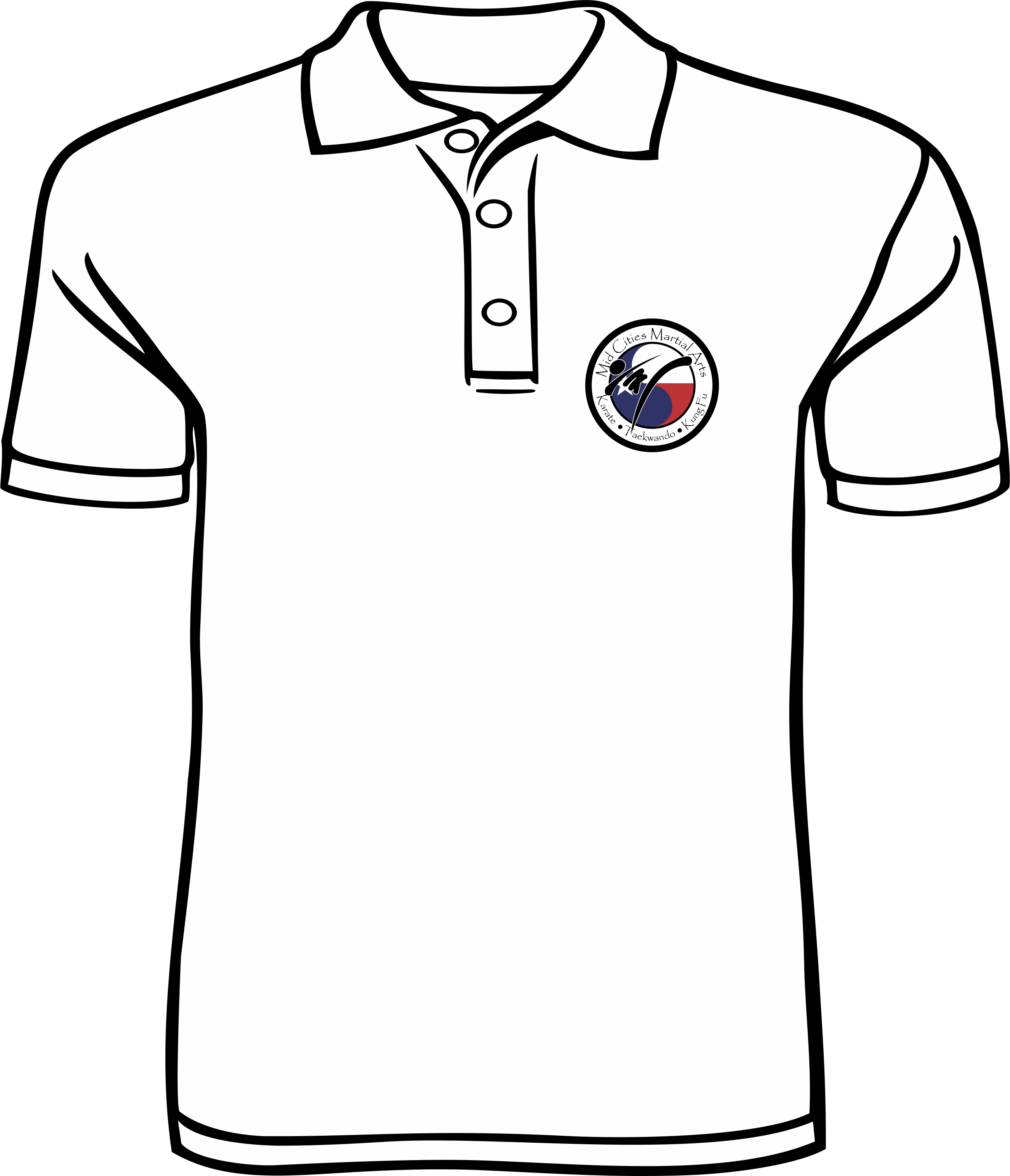 Mid Cities Martial Arts White Polo