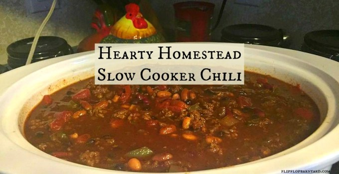 This hearty chili is made with real ingredients in your crock pot. It is a great slow cooker recipe.