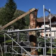 Einrichten des Baumstammes