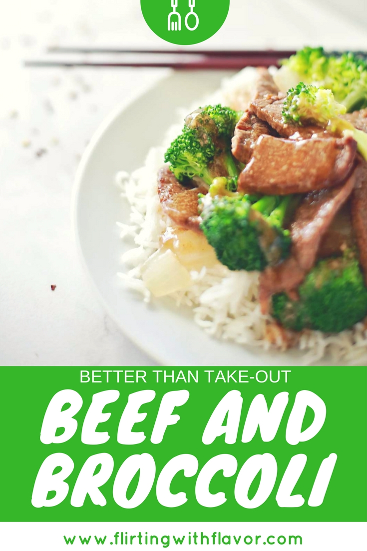 Super EASY and so YUMMY better than takeout Beef and Broccoli recipe by Flirting with Flavor