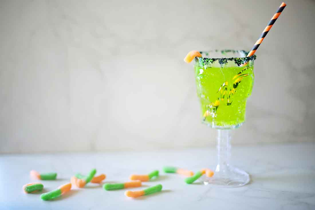Toxic Terror (but really soooo good!) Sour Apple creepy crawler craveyard punch by Flirting with Flavor!