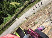 Auch beim Klettern top