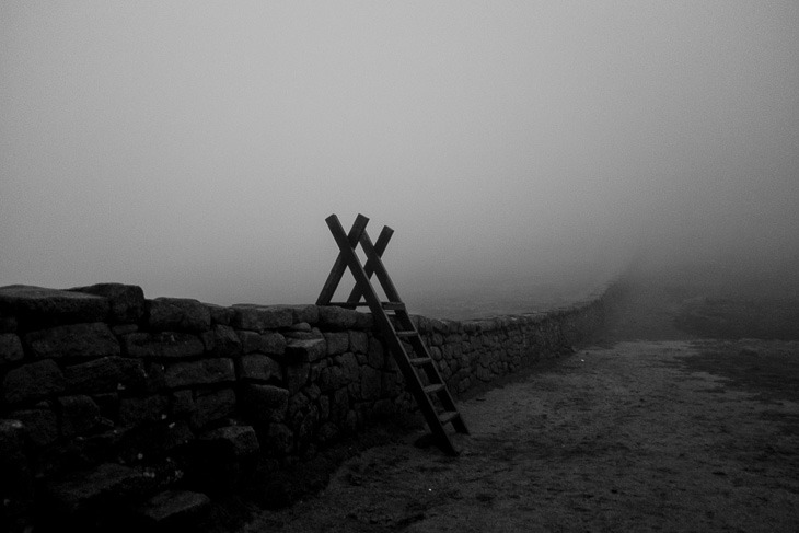The Mourne Wall, County Down, mist