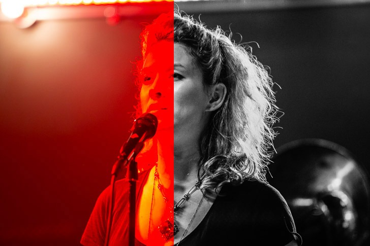 Red Light at concerts, photography
