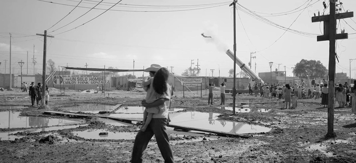 Scene from Alfonso Cuaron's Roma
