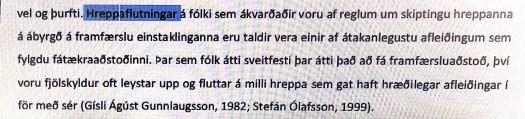 Ljósmynd af hluta af blaðsíðu 12 í MA lokaverkefni Katrínar Guðnýjar Alfreðsdóttur við félagsvísindasvið Háskóla Íslands í júní 2012.