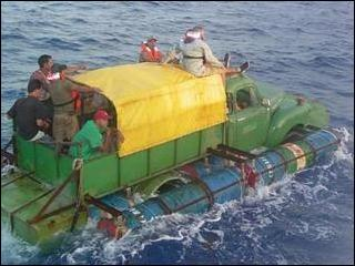 Image result for cuban makeshift boats