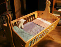 Natural Crib Mattress in Cradle