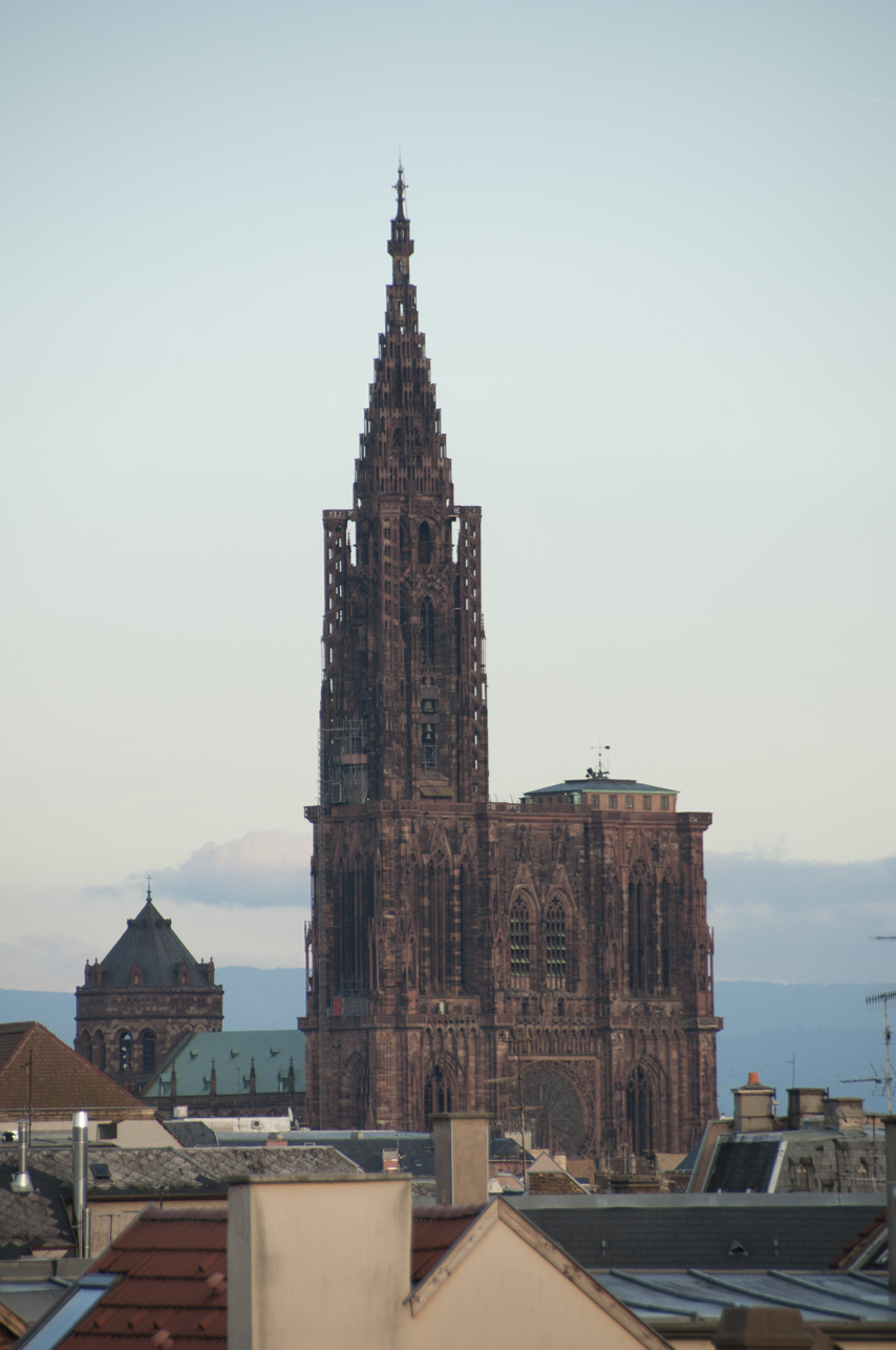 At 466 Ft Cathdrale Notre Dame De Strasbourg Towers Over