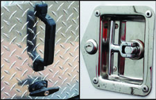 Door locks on the Pro-Tecktor trailer.