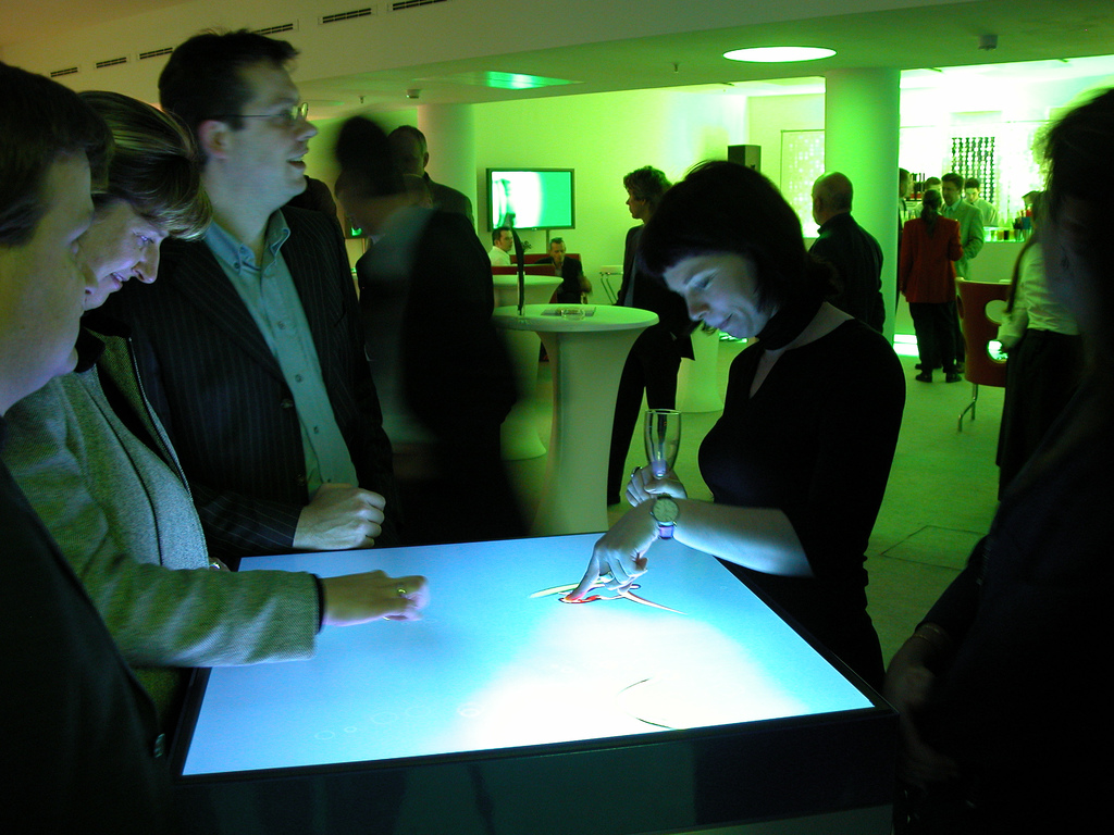 Interactive Bar Tables Interactive Art By Golan Levin