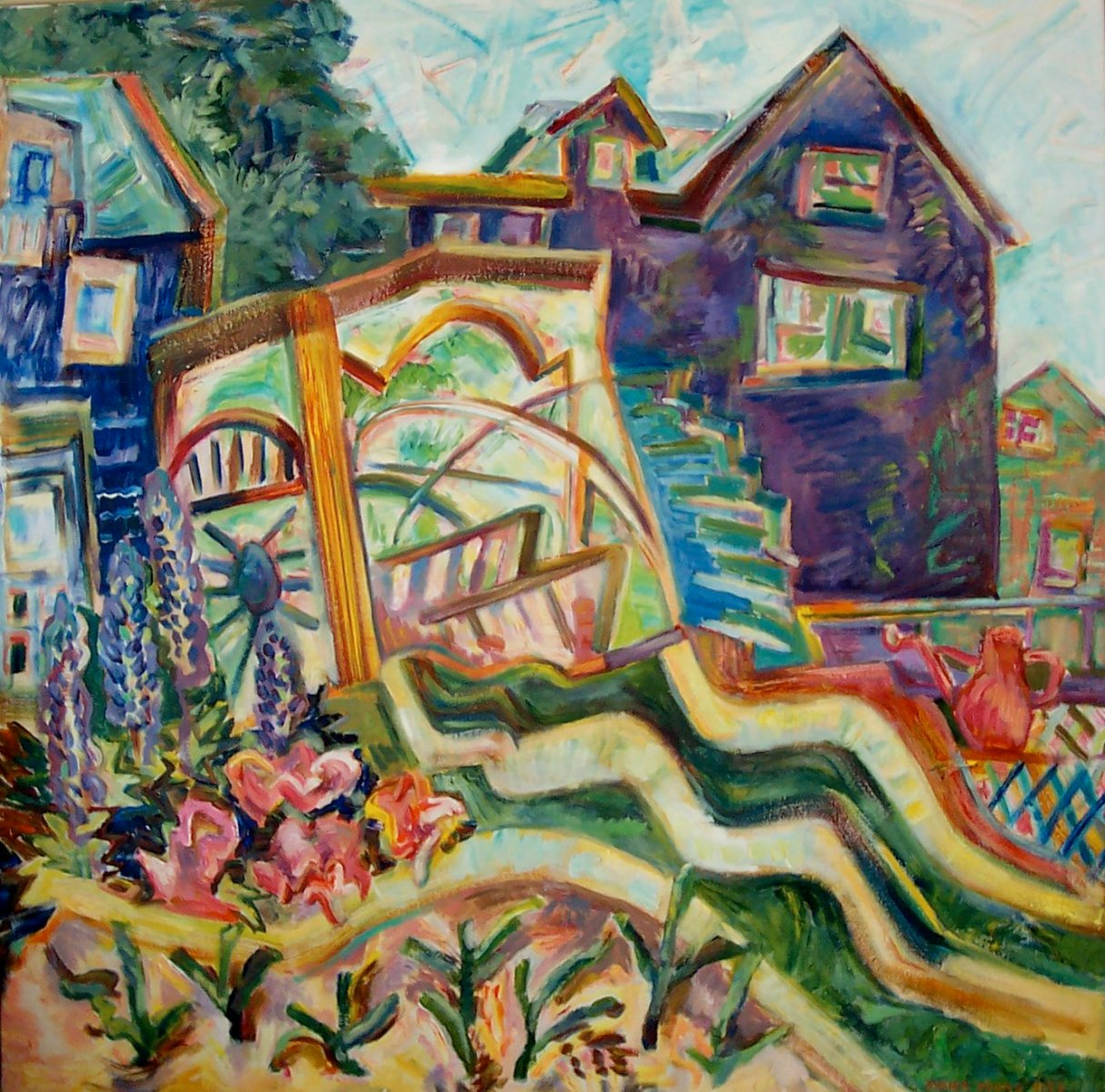 The Marvelous Arbor, 2006, Diana Young, American b. 1936, 40 x 40 inches, acrylic on canvas, $3200