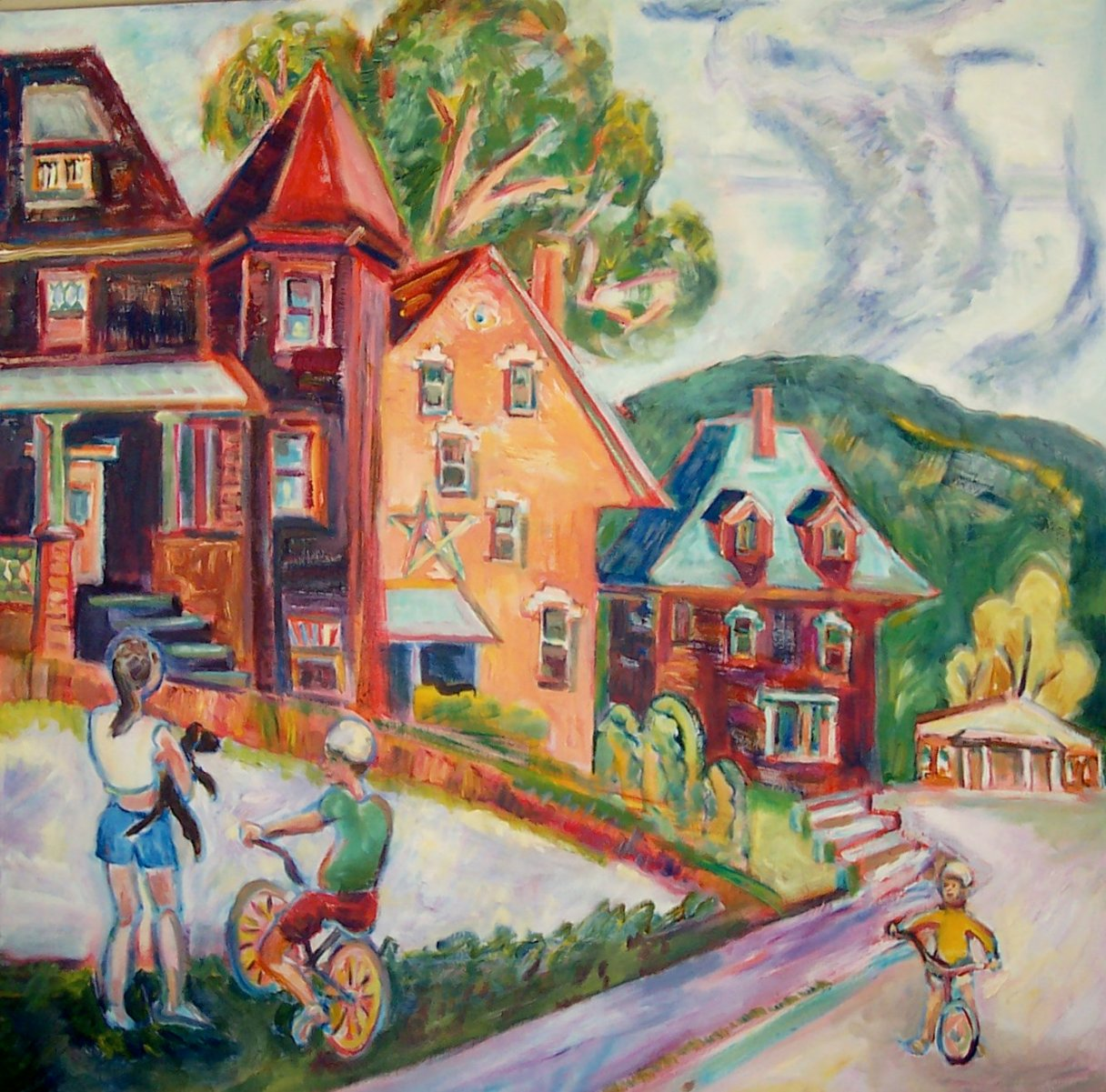 Last Day of Summer, Strathglas, Rumford, Maine, 2006, Diana Young, American b. 1936, 40 x 40 inches, acrylic on canvas, $2400