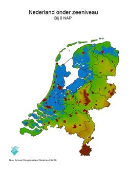 Nederland onder zeeniveau.