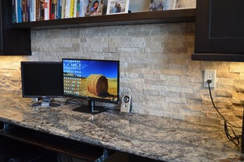 Transitional Office Backsplash