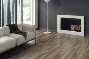 Wood Look Tile in Living Room