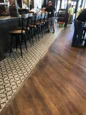 Great Dane bar tile hardwood