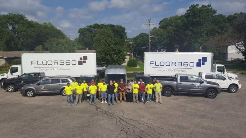 Flooring installation team