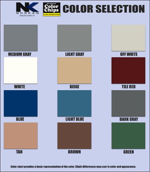 Lowes Concrete Paint Color Chart