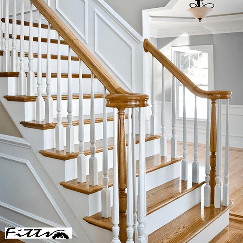 Hardwood Stair Treads Risers Bullnose Wood Steps Flooring Org | Prefinished Hardwood Stair Treads | Hand Scraped | Wood Stair | Red Oak Natural | Flooring | White Oak