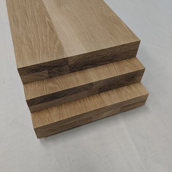 2 Inch Thick White Oak Stair Treads Extra Thick Solid Floating Steps | Oak Steps For Stairs | Finished | Solid Wood | Diy | Laminate | Painted Interior Stair
