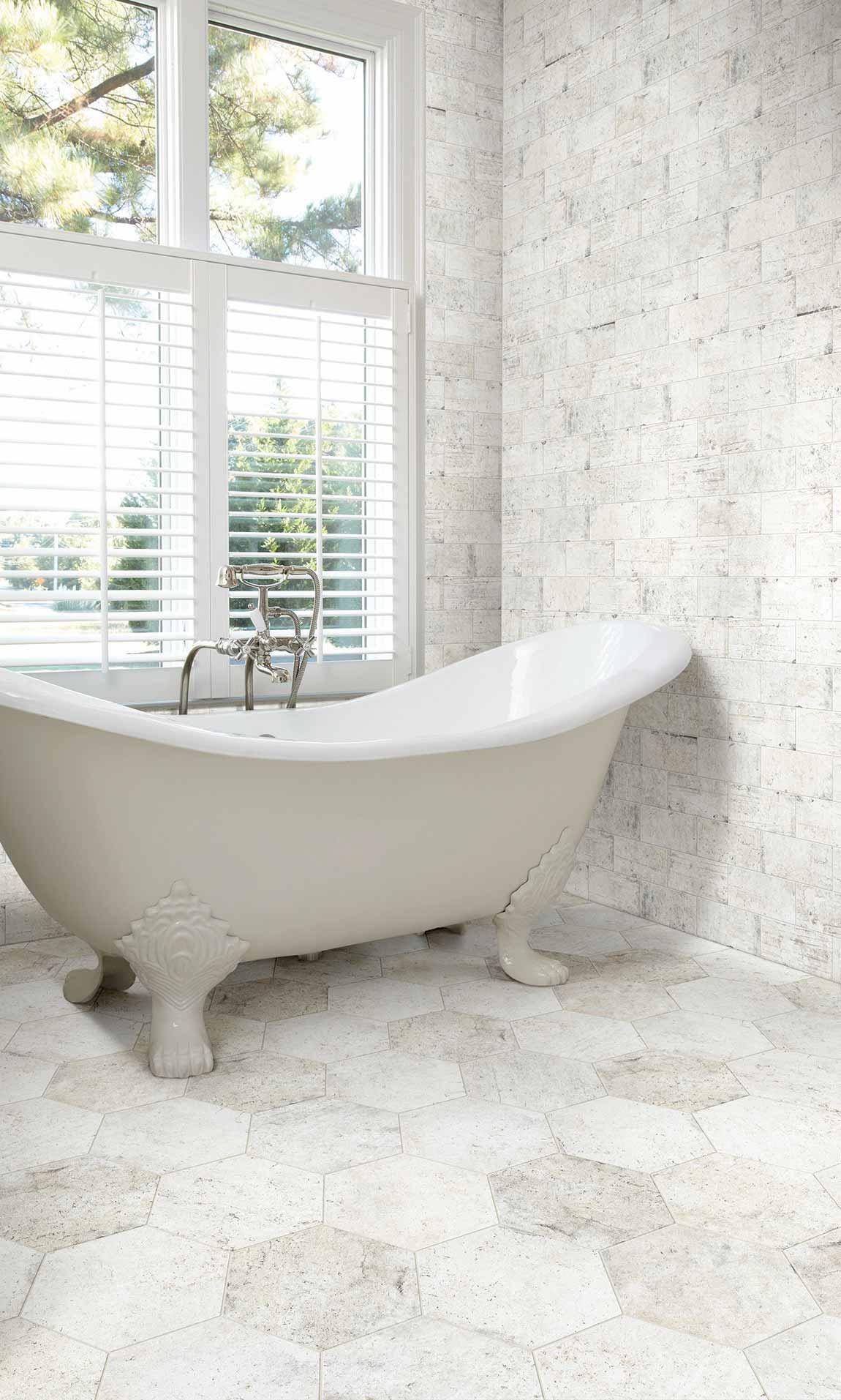bathroom whites neutrals tile stone