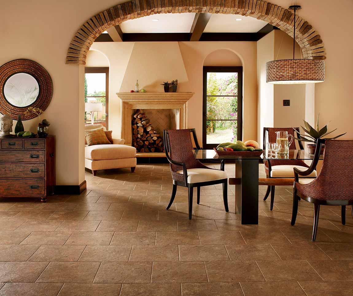 Tile Rustic Farmhouse Living Room Flooring Designs Flooring America