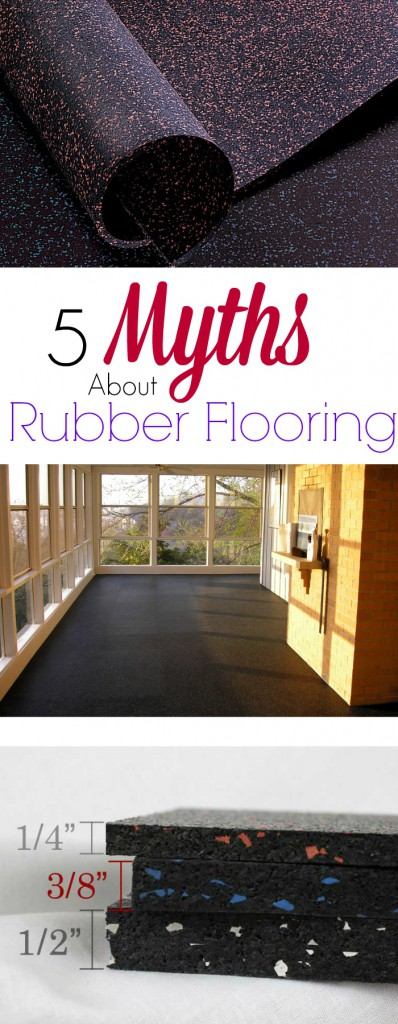 5 myths about rubber flooring discover the truth about the best flooring for homes and