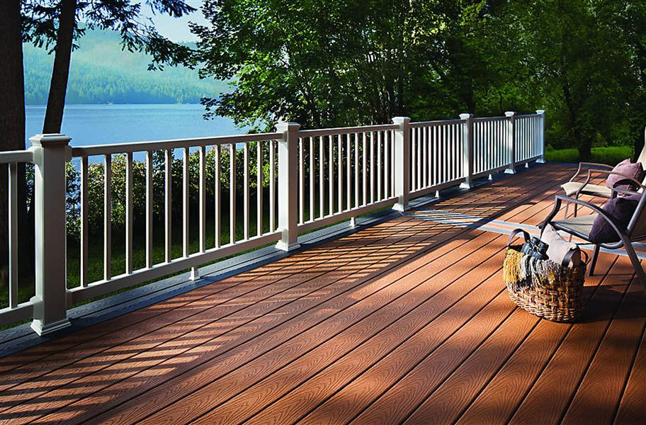 8 outdoor flooring options for style comfort for Outdoor composite decking