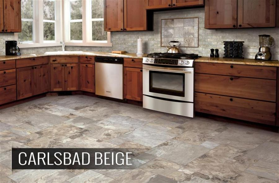 2018 Kitchen Flooring Trends  20  Flooring Ideas for the Perfect     Mohawk Vintage Cleft Porcelain Tile