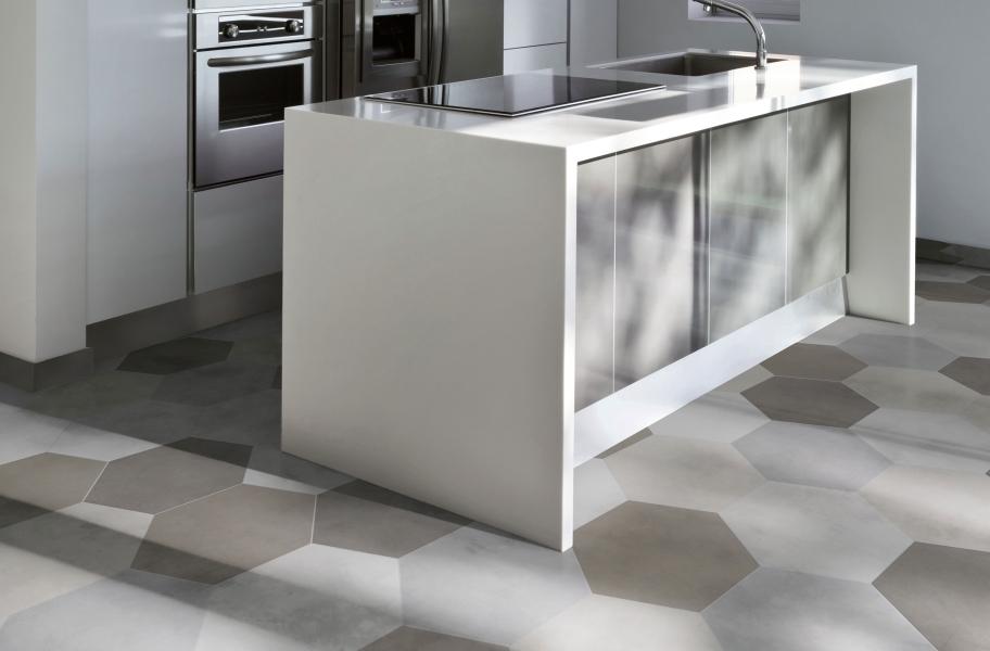 white ceramic floor tiles kitchen