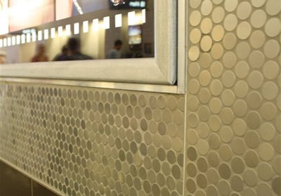Metal Tile, Mosaic metal. round metal tile, Stainless Steel, Copper, Mosaics, Metal Borders