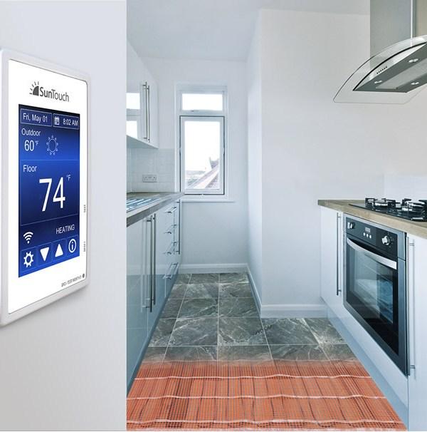 SunTouch floor heating, radiant floor heating, under floor heating
