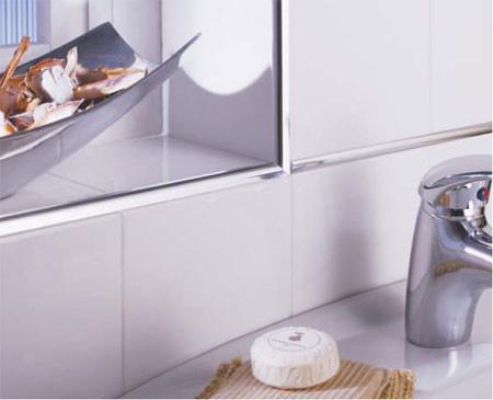 Trim, seal and enhance, tile trim, tile seal, enhance, edge, homelux usa, homelux uk, Metal Trim, tile trim,