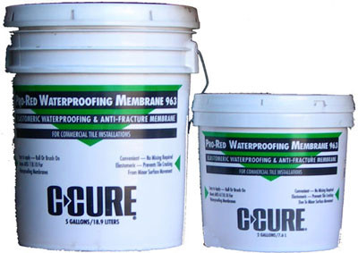 C-Cure Pro red 986 waterproofing membrane